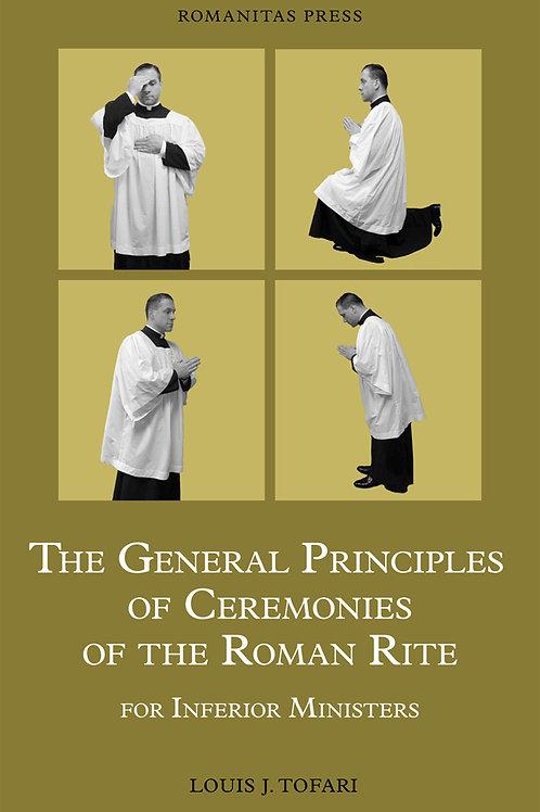 The General Principles of Ceremonies of the Roman Rite PDF BK
