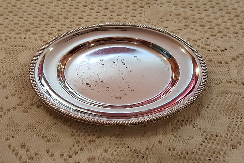 """6"""" Silver-Plated Circular Tray"""
