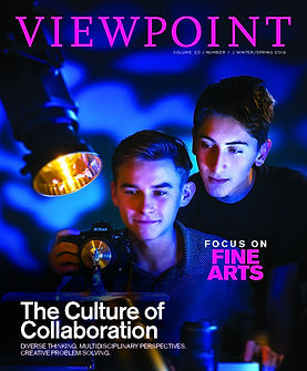 Cover of Viewpoint Magazine Spring 2019.