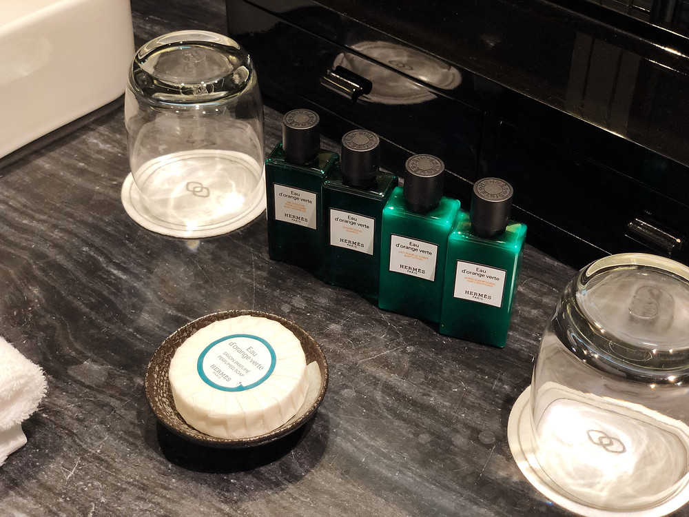 Prestige Suite - Hermes toiletries are available for guests' use