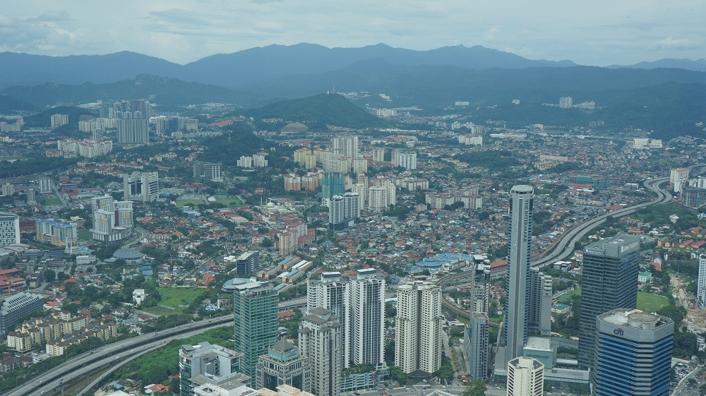 View of the city from Petronas Twin Towers