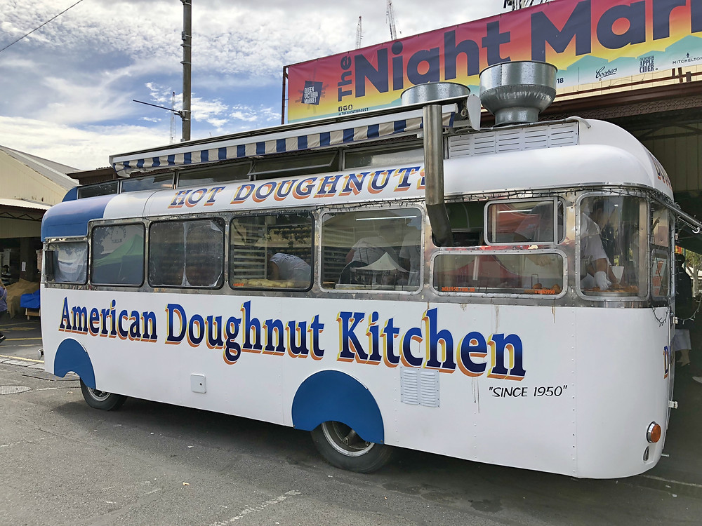 The famous American Doughnut Kitchen at Queen Victoria Market