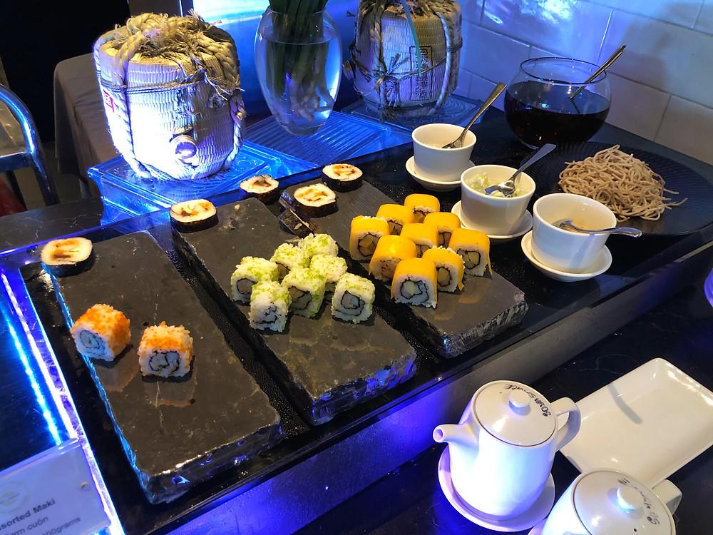 Sofitel Saigon Plaza's Mezz Restaurant offers sushi for those who enjoy a Japanese breakfast