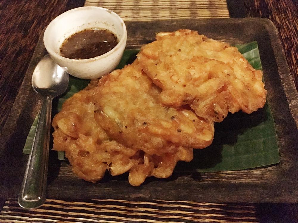 The Sugar Palm Shrimp Cakes