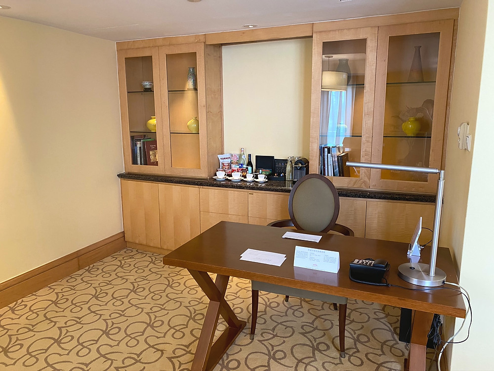 View of the workstation hidden from view when you first enter the Loft Suite