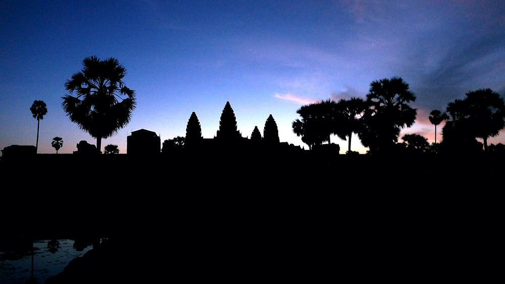 At Angkor Wat before dawn