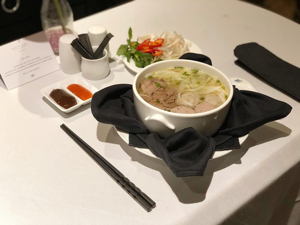 Sofitel Saigon Plaza Room Service - Beef Pho