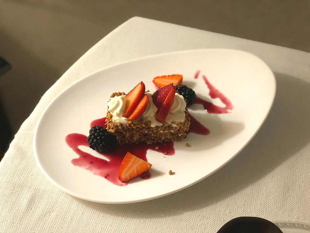 Regent Singapore Room Service - A delicious slice of strawberry shortcake to end the meal