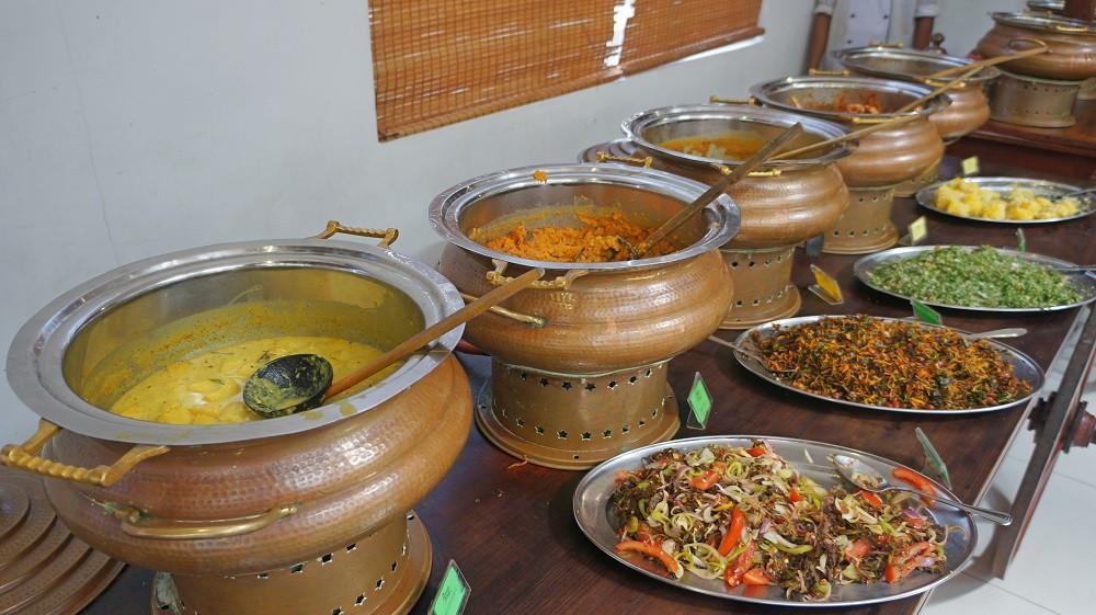 Wide variety of food at Raja Bojun