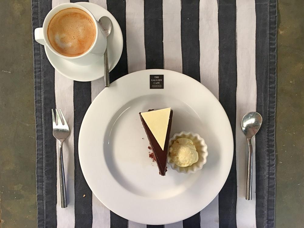 Enjoying Paradise Road The Gallery Cafe's signature chocolate cake