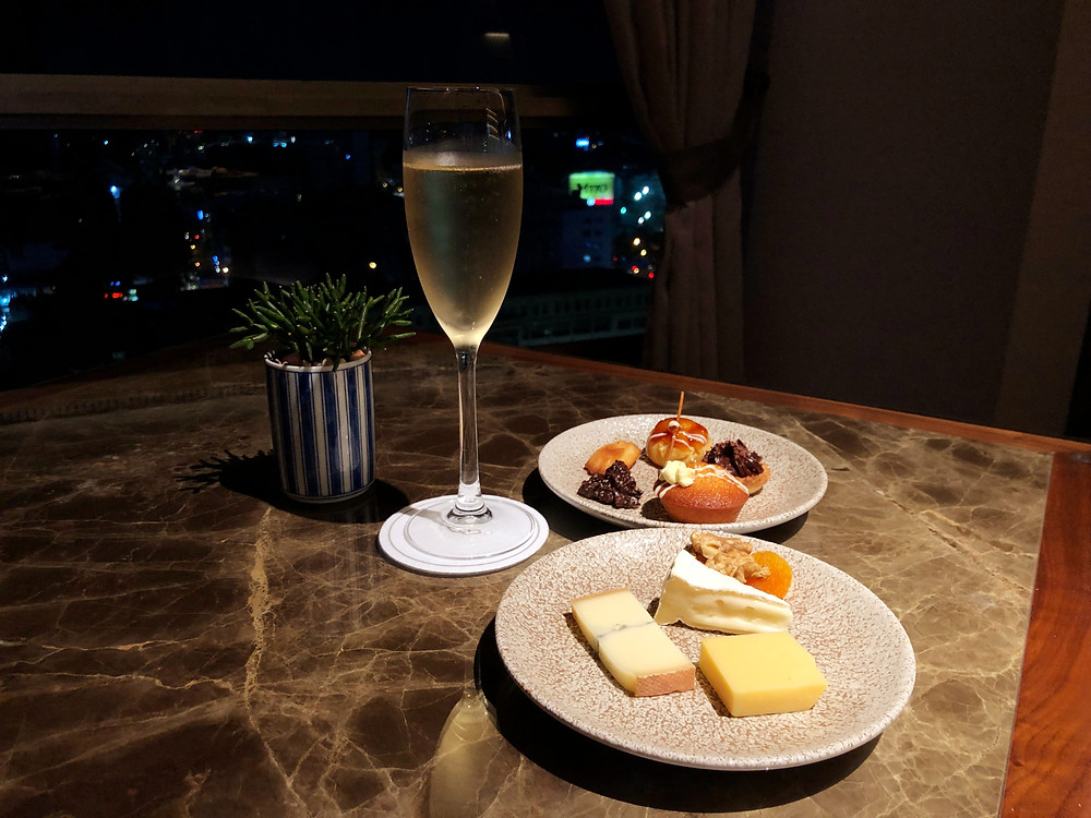 Club Sofitel Lounge - Happy hour means some cheese, sweets, and champagne are a must