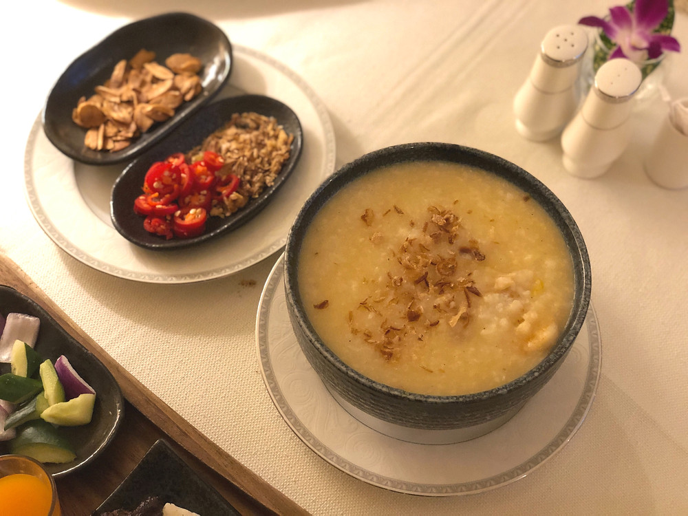 Regent Singapore Room Service - A comforting bowl of congee
