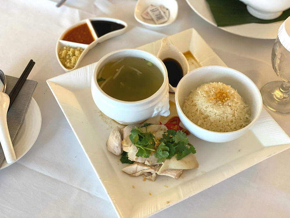 Fairmont Singapore Room Service - Chicken Rice for lunch