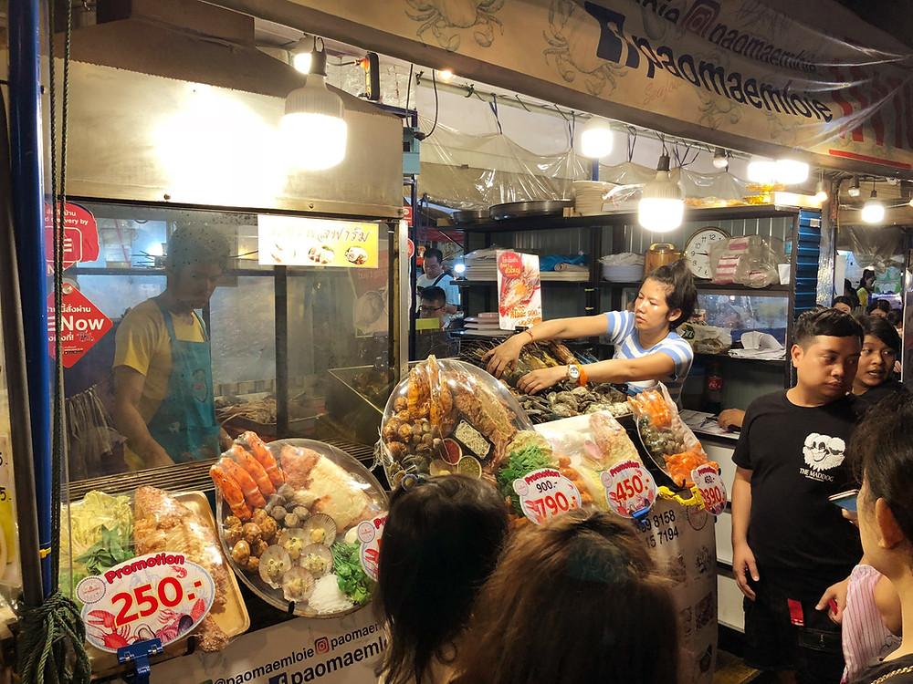 Seafood at Rod Fai Night Market