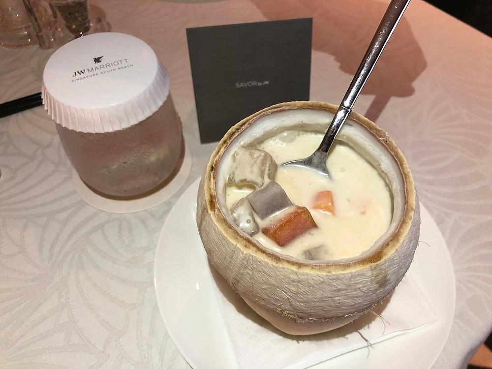 JW Marriott Hotel Singapore South Beach Room Service - Bubur Cha Cha