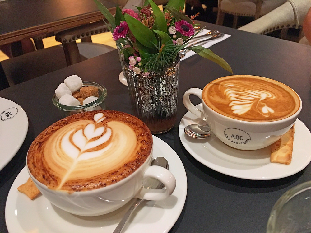 Lattes at ACME Bar & Coffee