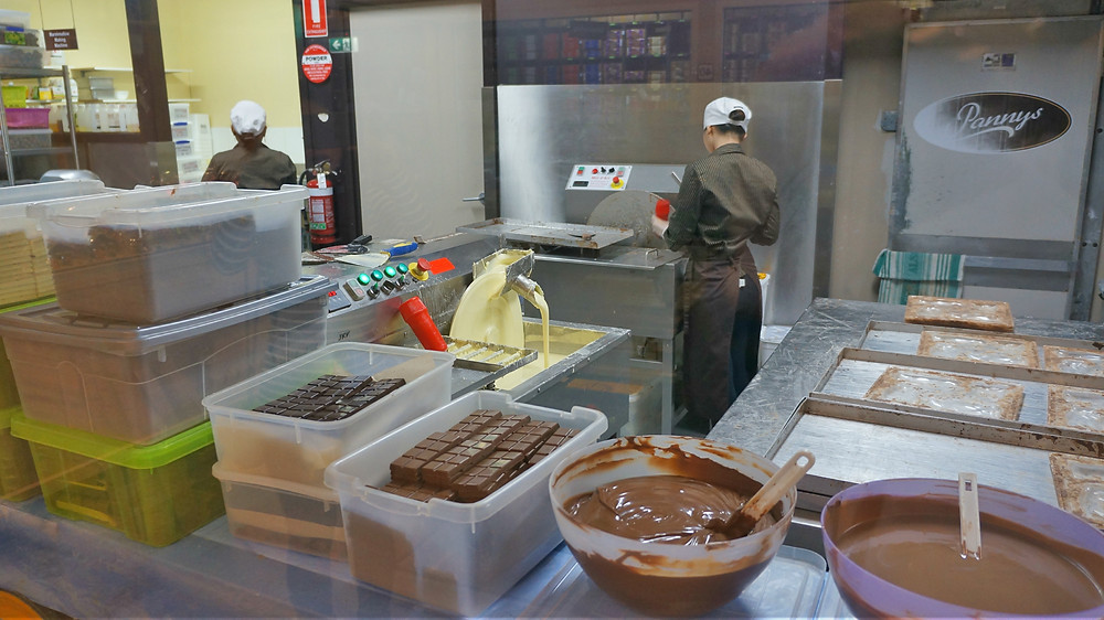 A real chocolate factory producing delicious products for customers
