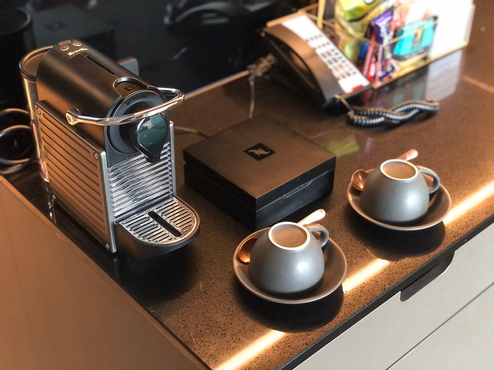 The Fantauzzo Brisbane Deluxe Riverside Balcony Room - Nespresso coffee for guests