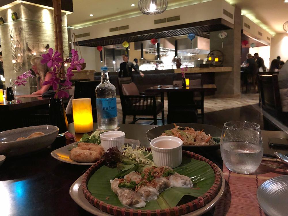 An authentic Vietnamese meal at Lao at Waldorf Astoria Dubai Palm Jumeirah