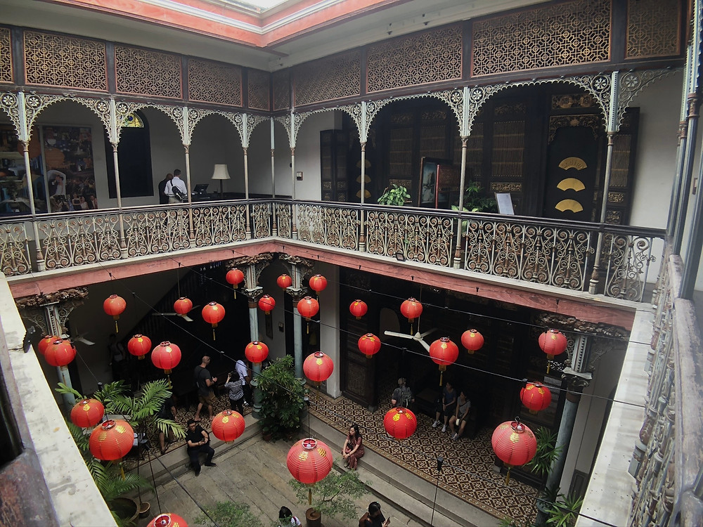 Looking down to the courtyard of Cheong Fatt Tze Mansion