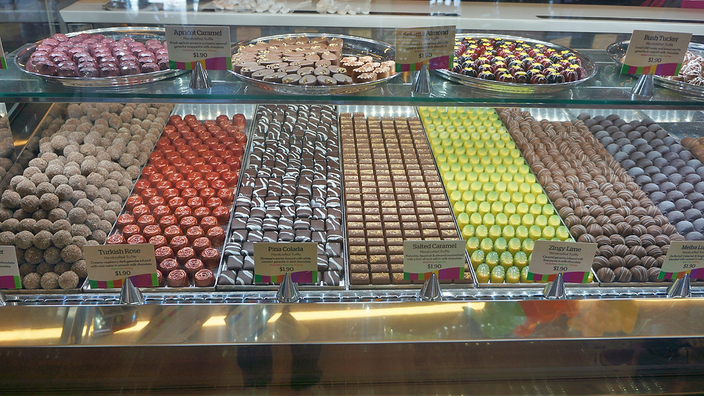 Delicious chocolate truffles for sale at Yarra Valley Chocolaterie and Ice Creamery