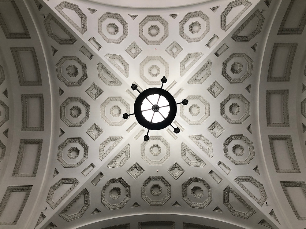 The ceiling of Brisbane City Hall