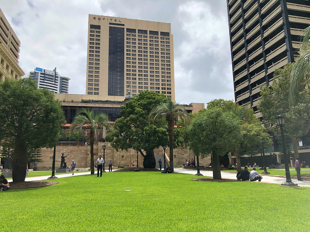 A peaceful time at ANZAC Square