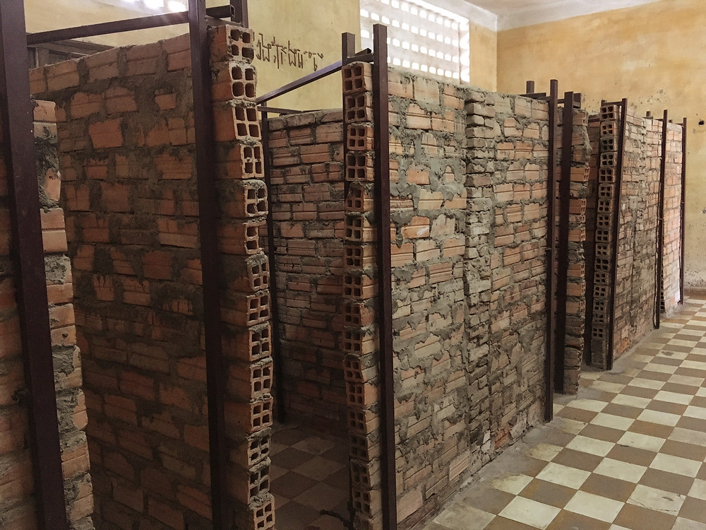Cells that were used to keep prisoners in the S-21 Prison