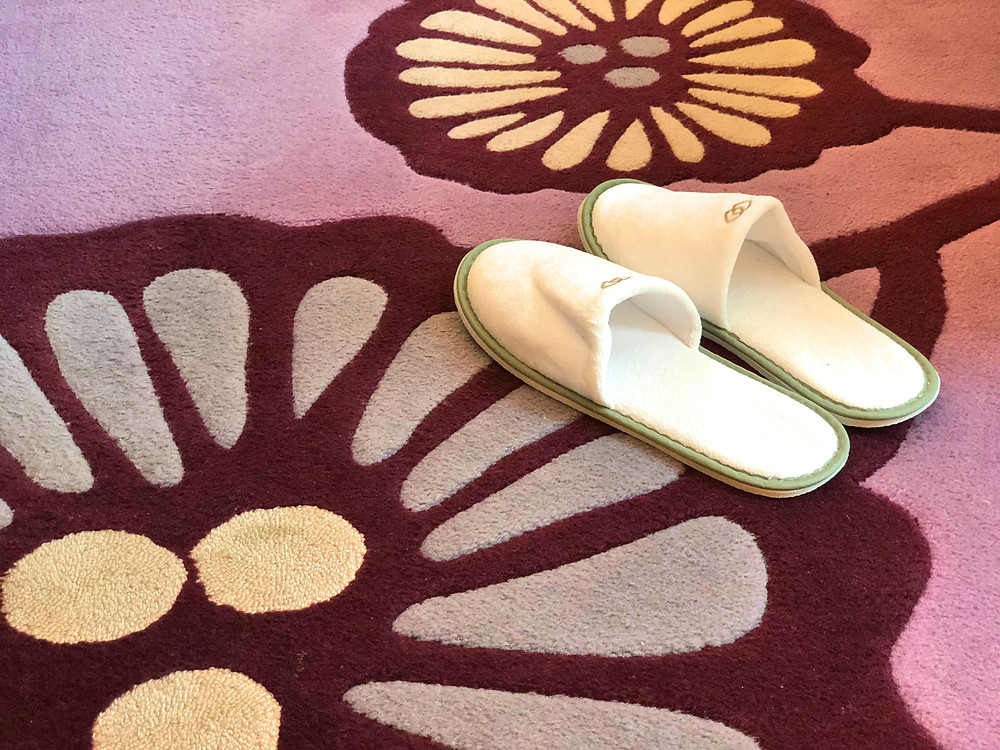 Prestige Suite - The really fluffy and comfortable bathroom slippers