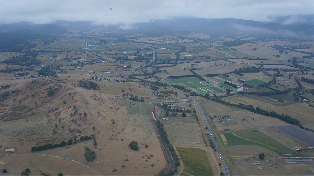 Yarra Valley from 1,000 feet above