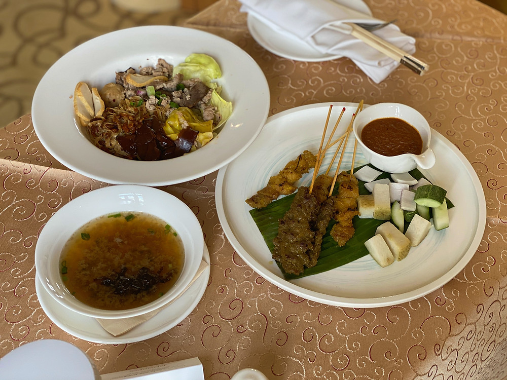 The satays were pretty good to end the room service meal at The Fullerton Hotel on a sweet note
