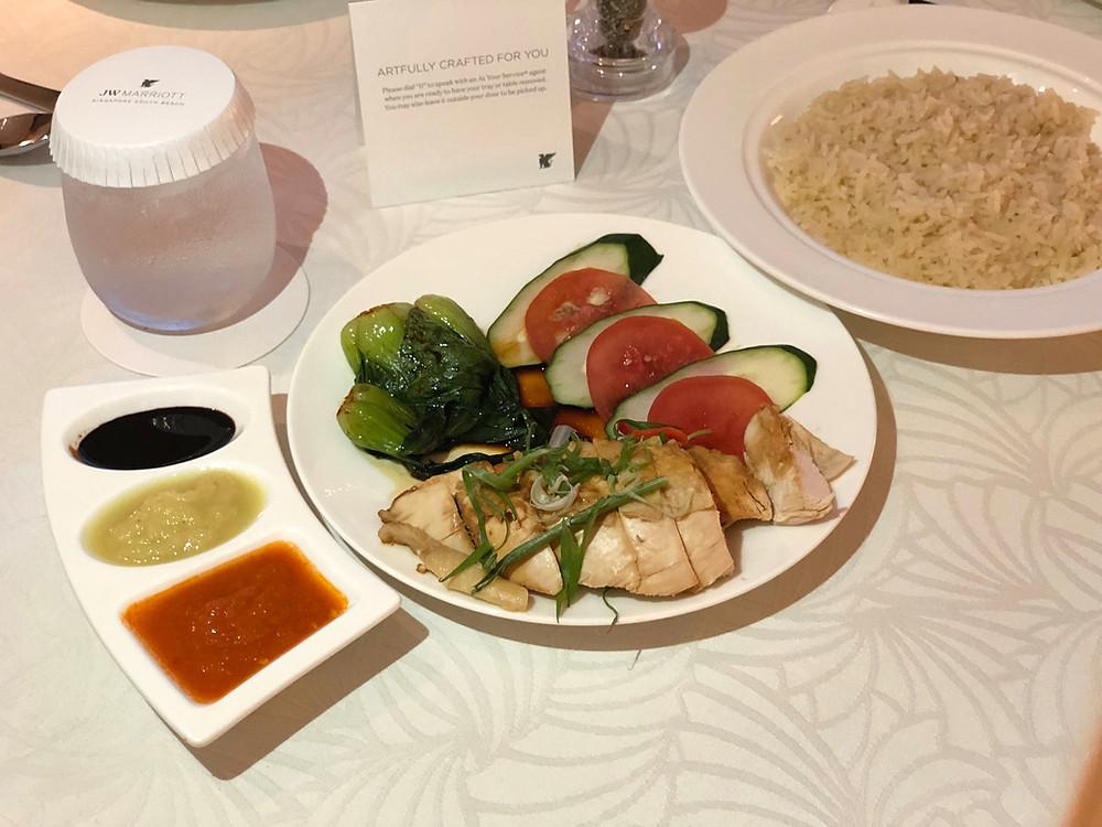 JW Marriott Hotel Singapore South Beach Room Service - Beach Road Kitchen Chicken Rice