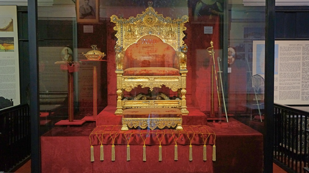 Throne of the King of Kandy at the National Museum of Colombo