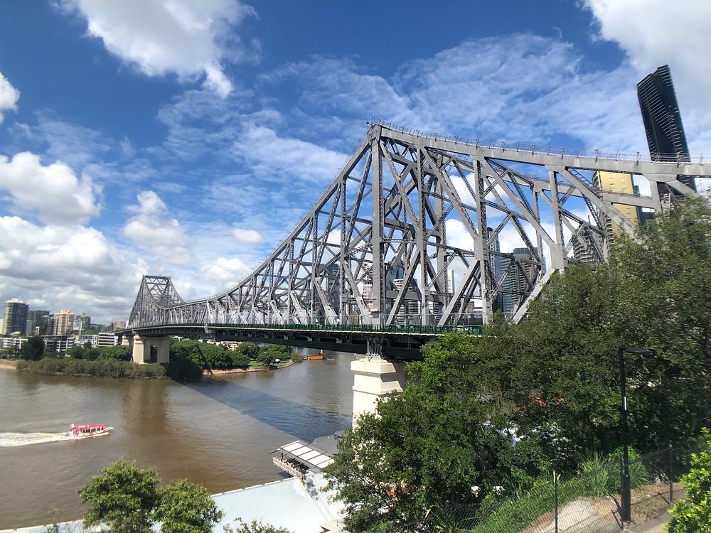 View of Story Bridge above Howard Smith Wharves