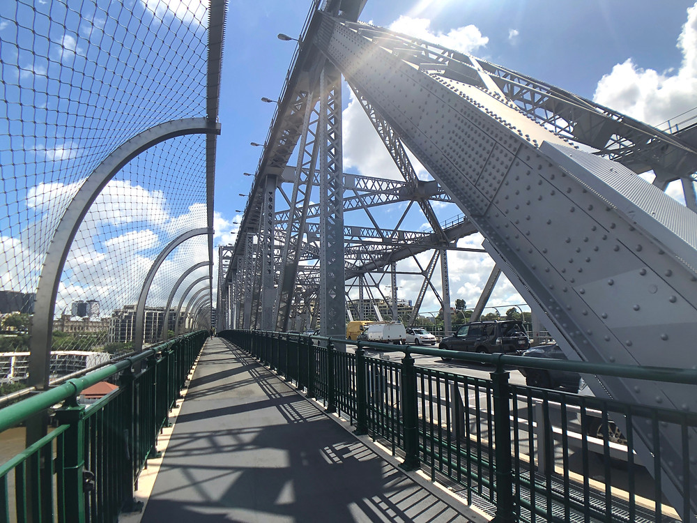 Walking along Story Bridge is a must if you fear walking at the top of the bridge
