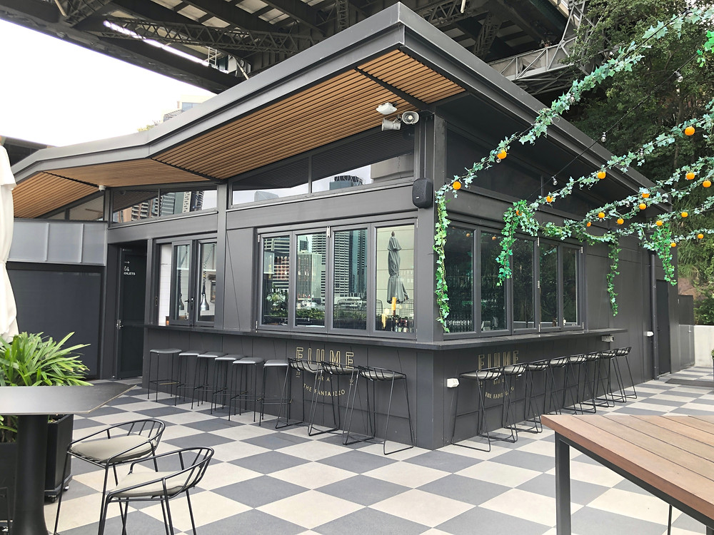 The Fantauzzo Brisbane - Enjoy some snacks at the rooftop bar beside the infinity pool