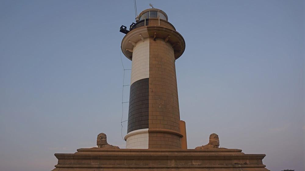 The unique colour scheme of Colombo Lighthouse