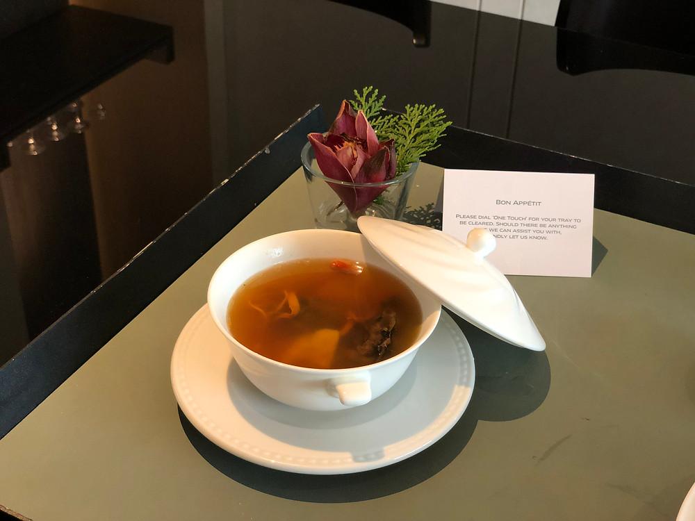 Sofitel Singapore City Centre Room Service - The nourishing bowl of herbal soup
