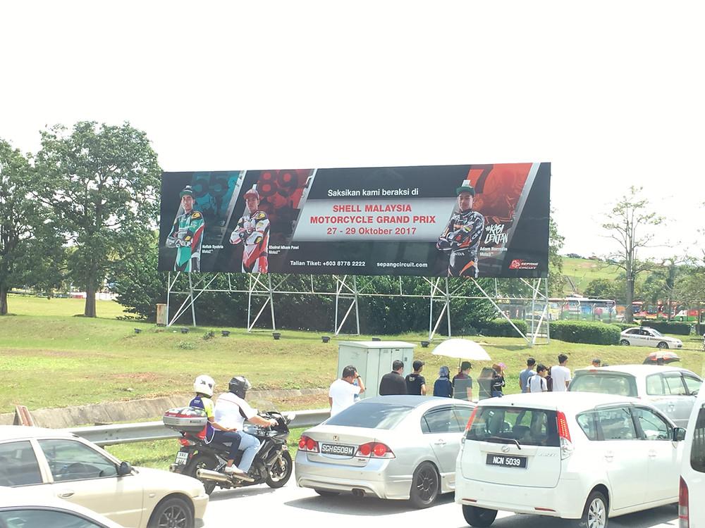 On the way to Sepang Circuit