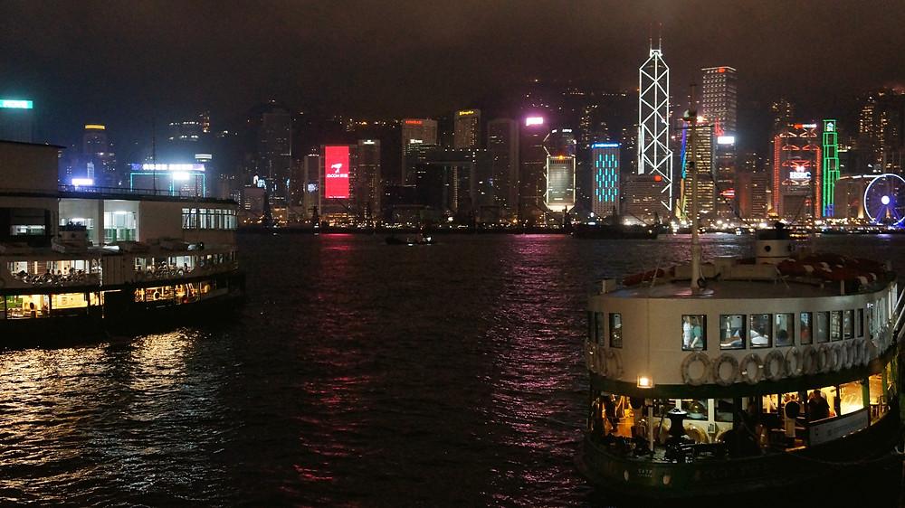 View of Hong Kong island from Tsim Sha Tsui pier