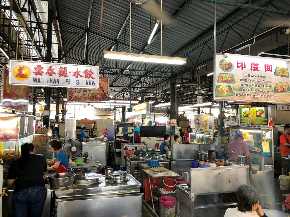 Stalls selling local delights at Cecil Street Market