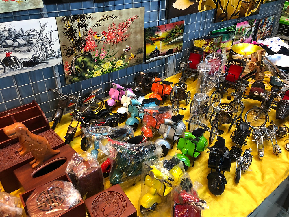 Check out some of the souvenirs for sale at Batu Ferringhi Night Market