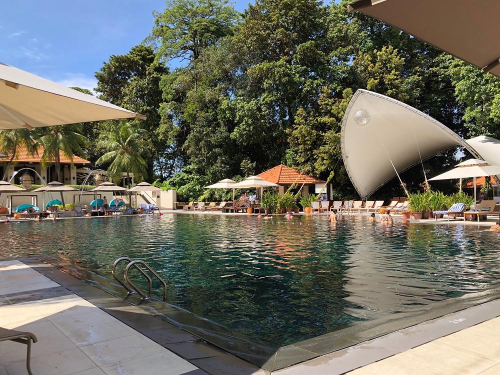 View of the swimming pool at Sofitel Singapore Sentosa Resort & Spa