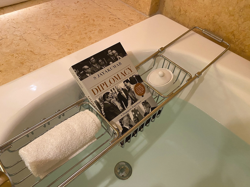 A great book that goes together well with the rich heritage of The Fullerton Hotel