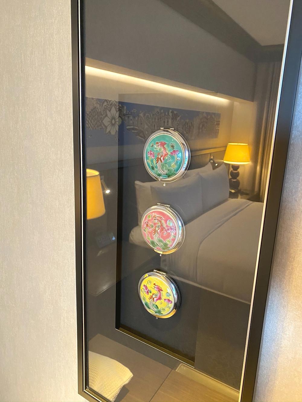 Fairmont Singapore Signature King Suite - Peranakan décor is visible at this suite