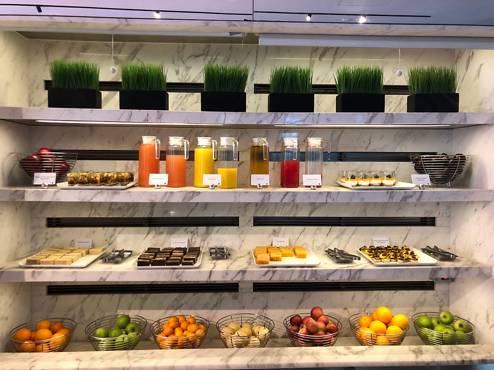 Executive Lounge - Sandwiches and fresh fruits