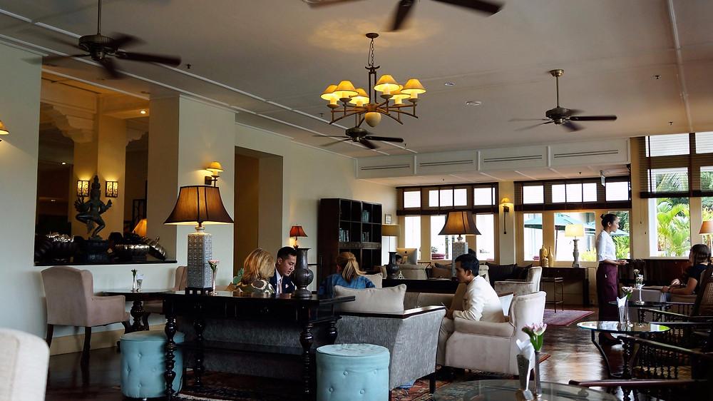 Afternoon tea at Raffles Grand Hotel D'Angkor