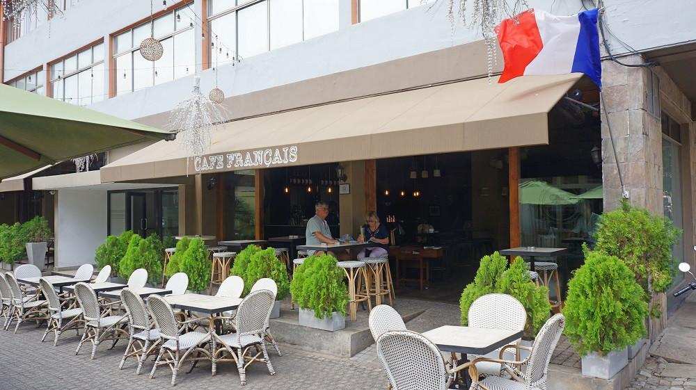 Outside Café Francais