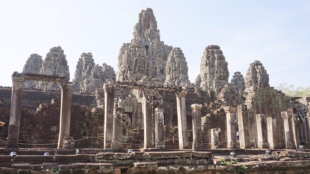 Walking among the ruins within Angkor Archaeological Park