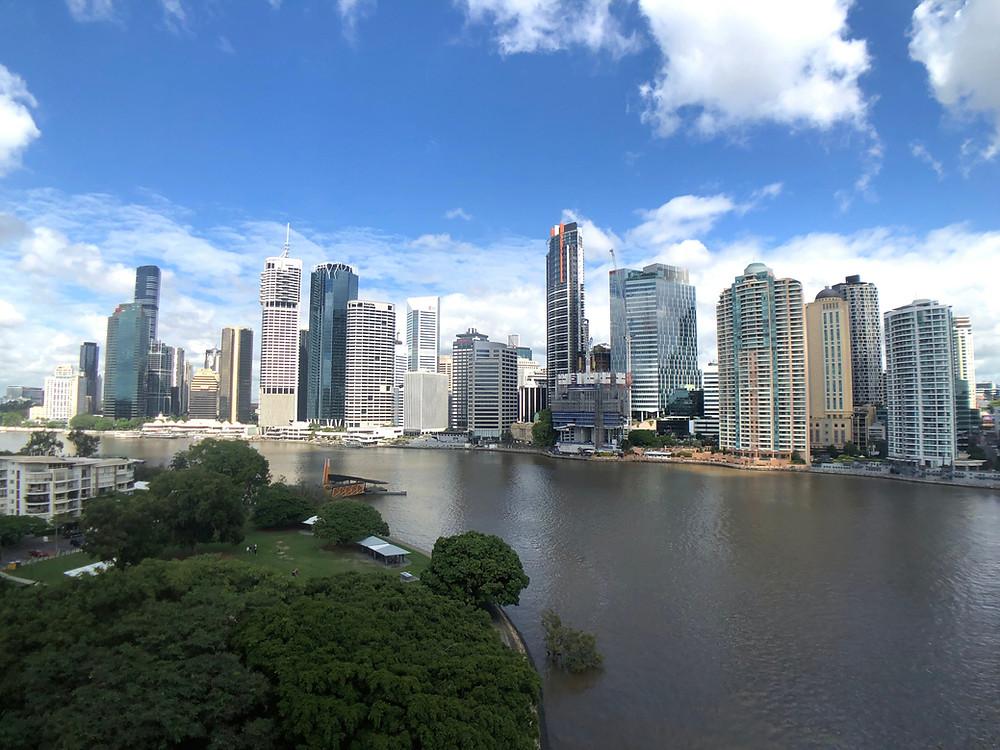 View of the Brisbane skyline from Story Bridge